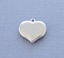 Lot 3 pcs Pendant Dangle Charm HEART Stainless Steel Jewelry finding DIY C20