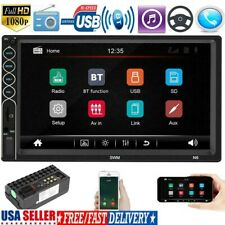 Double 2DIN 7'' Android Car Stereo GPS Navi MP5 Player Bluetooth FM Radio US.