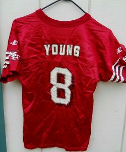 SAN FRANCISCO 49ers STEVE YOUNG #8 FOOTBALL JERSEY SIZE YOUTH MEDIUM (10-12)