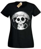Zombie Cat Ladies T-Shirt goth rock burton halloween kitty undead womens top