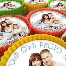 YOUR PHOTO PERSONALISED CUPCAKE TOPPERS 12 PRE-CUT EDIBLE IMAGES