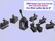 Oxa Wedgetype Toolpost Mini Lathe Up To 8 Withtwo Extra Holders