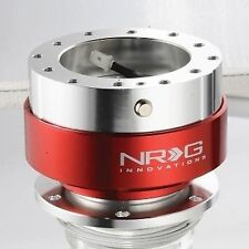 NRG STEERING WHEEL QUICK RELEASE KIT GEN 1.5 (SILVER Body & RED Ring)