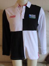 Camiseta De Rugby World Cup 2015-Negro y Blanco Quads-Coca Cola-medio