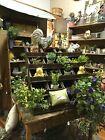 Antique Vintage Wood Mercantile Store Showcase Display Cabinet Case Cascading