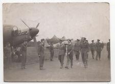 More details for king george vi visiting raf base, c1944/45, 3 old photos