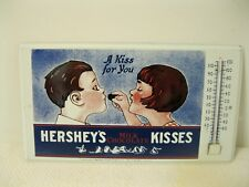 """Hershey's Chocolate """" A Kiss For You"""" Advertising Metal Sign with Thermometer"""