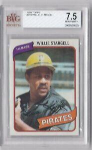 1980 TOPS WILLIE STARGELL PITTSBURGH PIRATES #610 BECKETT 7.5
