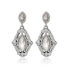 Dazzling crystal rhinestone clear Drop Dangle Wedding Proms Pageant Earring pin