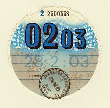 Private Car Tax Disc BMW 02 / 2003
