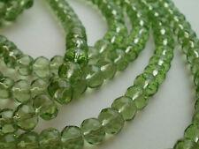 40 Verde Facetado ábaco Perlas De Vidrio 8mm De Diámetro