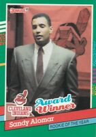 FREE SHIPPING-MINT-1991 Donruss Rookie Of The Year #693 S.Alomar,Jr. INDIANS