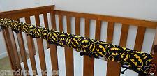 Baby Crib Cot Rail Cover Teething Pad - Batman Logo On Black -  **REDUCED**