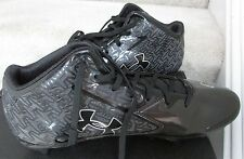 Under Armour Nitro Mid MC Football Cleats Size 11 Black New in Box NIB