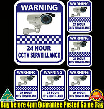CCTV SECURITY CAMERA WARNING Decal Sticker X6 Safety Home Shop Business 7 Year