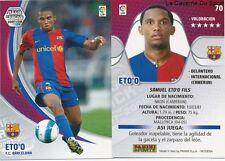 N°070 SAMUEL ETO'O # CAMEROON FC.BARCELONA MEGACRACKS CARD PANINI LIGA 2008