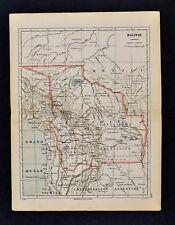 1885 Cortambert Map - Bolivia Cochabamba La Paz Lake Titicaca - South America