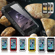 Shockproof Aluminum Glass Metal Case Cover for iPhone 6S 7 8 Plus X 5 5S SE