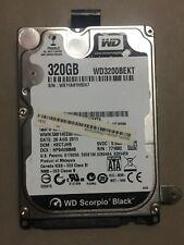"""Western Digital Scorpio Blue/Black 320GB 2.5"""" Hard Drive. WD3200BEKT, BPVT, BUCT"""