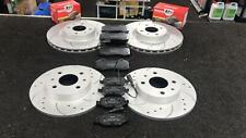 FIAT 500 ABARTH 1.4 312 595 FRONT REAR DRILLED GROOVED BRAKE DISCS & MINTEX PADS