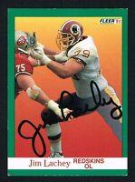 Jim Lachey #388 signed autograph auto 1991 Fleer Football Trading Card