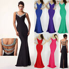2015 Sexy Long Mermaid Prom Ball Party Bridesmaid Evening Gown Homecoming Dress