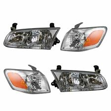 2000 2001 TOYOTA CAMRY HEAD & CORNER LIGHT LAMP LEFT & RIGHT COMBO 4PCS SET