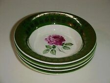 Limoges American Beauty Rose Dessert Fruit Bowl Set