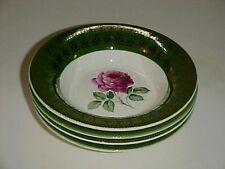 Limoges American Beauty Rose Dessert Fruit Bowl Set