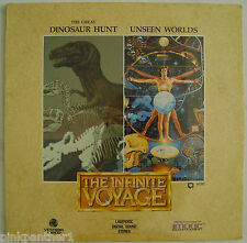The Infinite Voyage : Great Dinosaur Hunt ~ Unseen Worlds  Laserdisc Edition NEW