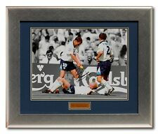 Paul Gascoigne Hand Signed England Euro96 Presentation AFTAL photo proof COA