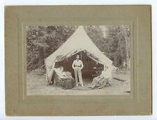 Vintage Photograph, Victorian Camp, Poss. Gold Rush, San Francisco, Calif 1889