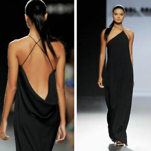 Abito donna lungo sirena schiena nuda vestito elegante cerimonia TOOCOOL VB-9585