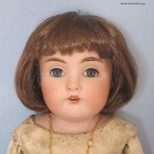 """perruque châtain poupée ancienne-tête18/19cm-Doll wig supplies sz 7/7.5"""""""