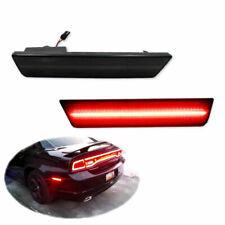 Red Rear Side Marker Lamps LED Lights For 08-14 Dodge Challenger/11-14 Charger