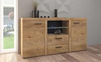 Sideboard large  cabinet tv unit dark oak effect colour living room furniture