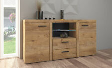 Sideboard large  cabinet tv unit dark oak effect colour living room furniture