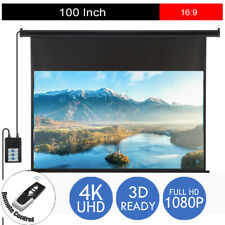 16 9 Projector Screen Electric Motorised Projection HD 1080p Conference Remote