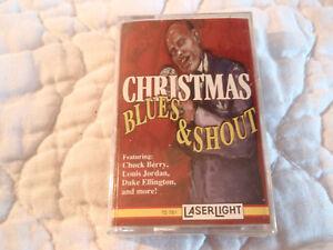 CHRISTMAS BLUES & SHOUT CASSETTE NEW CHUCK BERRY LOUIS JORDAN DUKE ELLINGTON