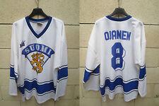 Maillot hockey SUOMI FINLANDE vintage shirt trikot jersey OJANEN n°8 KSB XL