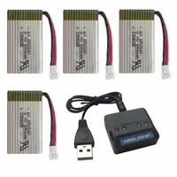 4pcs 3.7V 650mAh Lipo Batteries + 4 in 1 Charger for Syma X5C X5SW X5SC X5