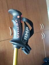 Kerma Viper Carbon Graphite Composite Ski Poles, 115 cm, 46 inches Black Gold