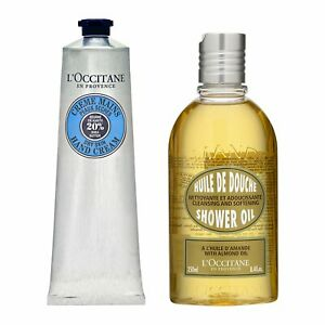 2 PCS SET L'Occitane Almond Shower Oil 250ml + Shea Butter Hand Cream 150ml