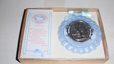 1988 BABY'S CRADLE MEDAL FROM ROMAN ~BLUE FOR BABY BOY ~BRAND NEW IN BOX