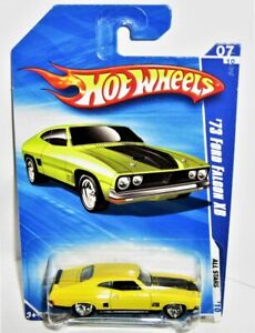 Hot Wheels FORD XB '73 FALCON CUSTOM WHEELS YELOW not SUPER TREASURE HUNT F/POST