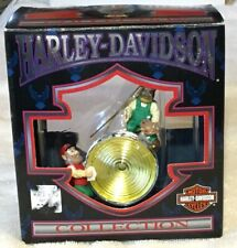 Harley Davidson Ornament Elves Cleaning Chrome Headlight North Pole 1997 Rider
