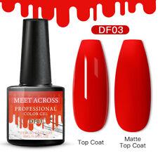 Meet Across Christmas Uv Gel Nail Polish Soak Off Manicure Glitter Gel 6ml Red
