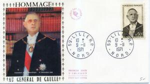 FRANCE 1698 1er JOUR, DE GAULLE, Portrait OFFICIEL