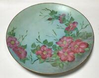 "Vintage Hand Painted Antique Thomas Sevres Bavaria German Floral Plate 10-3/4"""
