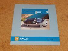 RENAULT ESPACE & GRAND ESPACE RANGE sales brochure (UK) April 2006 +3.5 V6